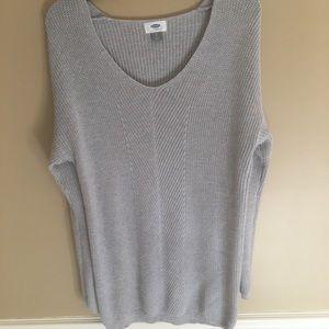 Super cute gray knit sweater sz small